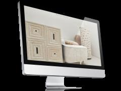 website voorbeeld op iMac