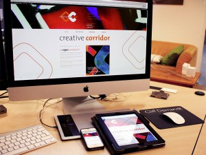 creative corridor responsive website