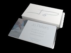 visitekaartjes ontwerp Jo Peters